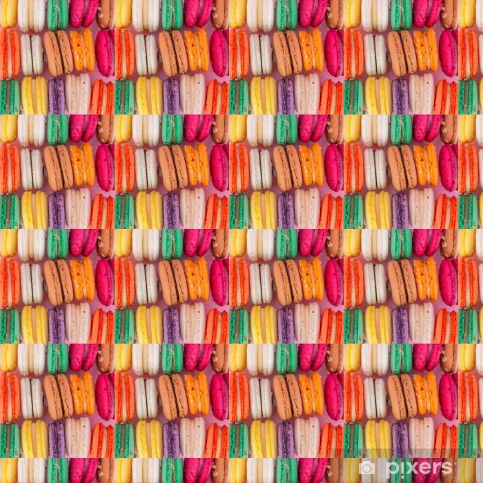 Özel Boyutlu Vinil Duvar Kağıdı Renkli Fransız macaroons -