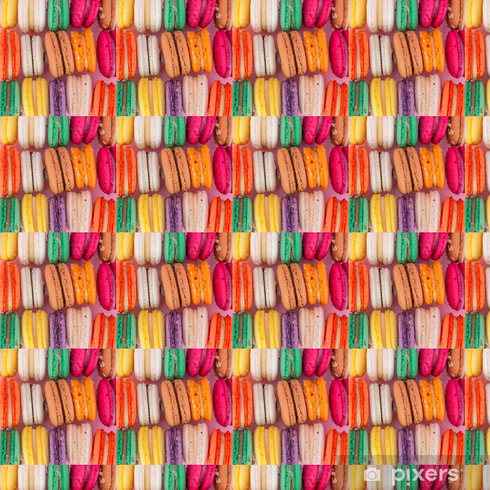 Colorful french macaroons Vinyl Custom-made Wallpaper - Themes
