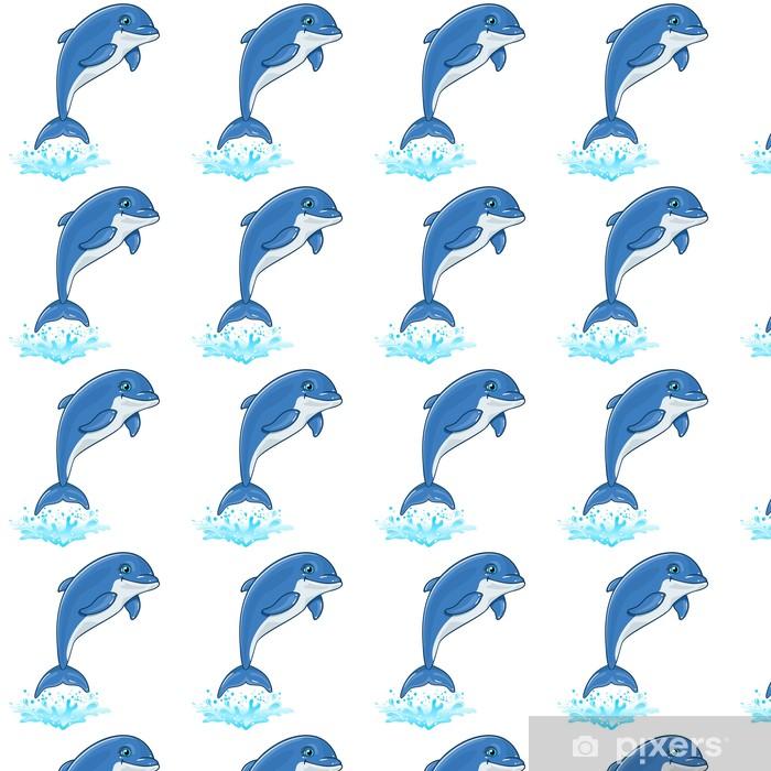Vinylová tapeta na míru Delfín - Nálepka na stěny