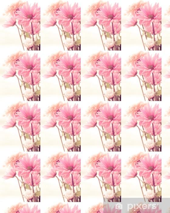 Papier peint vinyle sur mesure Ton doux bouquet floral - Fleurs