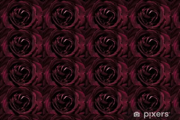 Papier peint vinyle sur mesure Rose, rouge foncé, macro - Fleurs