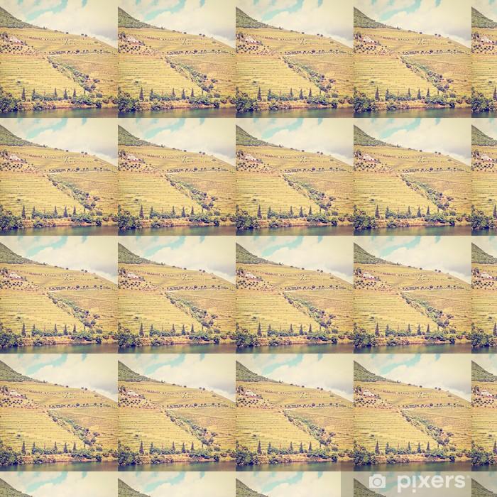 Vinyltapete nach Maß Terrasse - Jahreszeiten
