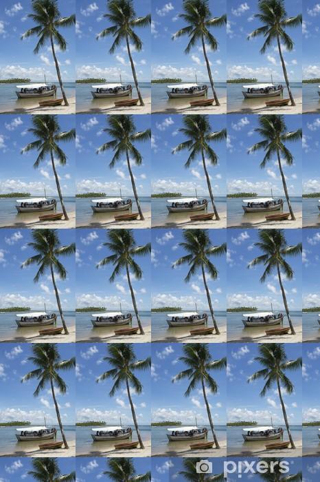 Papier peint vinyle sur mesure Bateau de plage de palmier brésilien - Amérique