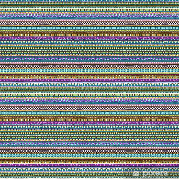 Özel Boyutlu Vinil Duvar Kağıdı Orijinal kabile doddle etnik seamless pattern. -