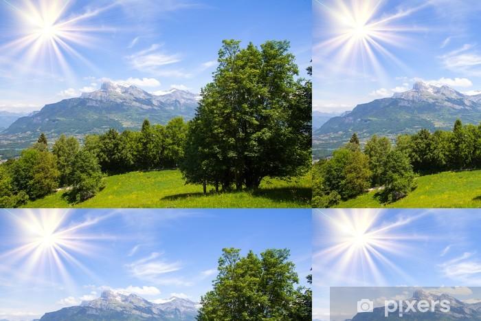 Papel de Parede em Vinil mountains - Interior