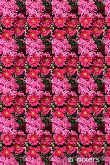 Tapeta na wymiar winylowa Różowe róże i gerbery w układzie ślubnej - Świętowanie