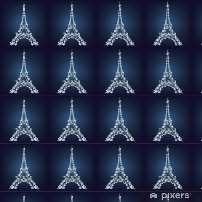 Tapeta na wymiar winylowa Wieża Eiffla - Paryż składa się wiele diamentów - Miasta europejskie