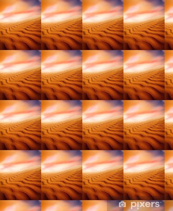 Papier peint vinyle sur mesure Les dunes de sable au coucher du soleil dans le désert du Sahara - Désert