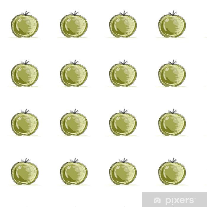 Vinylová tapeta na míru Náčrt jablka pro svůj design - Mír