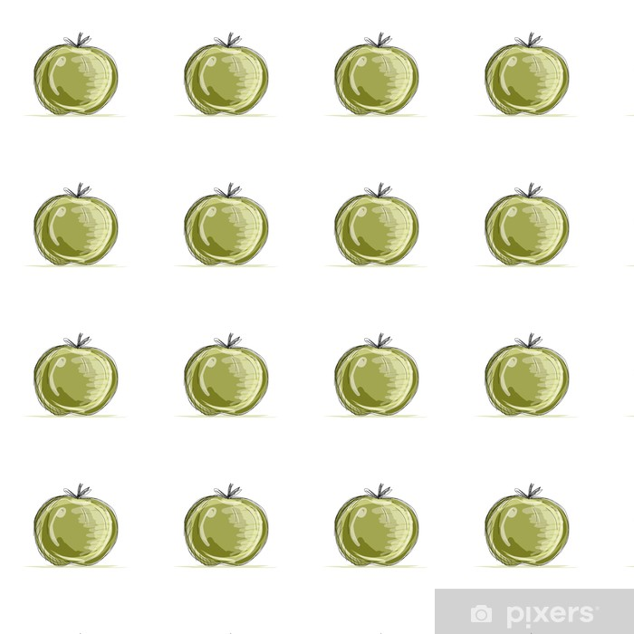 Sketch of apple for your design Vinyl custom-made wallpaper - Peace