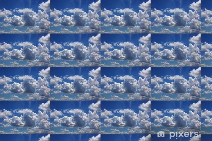 Papier peint vinyle sur mesure Incroyable fond de ciel bleu avec un petit nuage - Thèmes