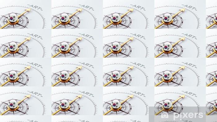 Vinylová tapeta na míru Jižní Korea Compass Concept - Značky a symboly