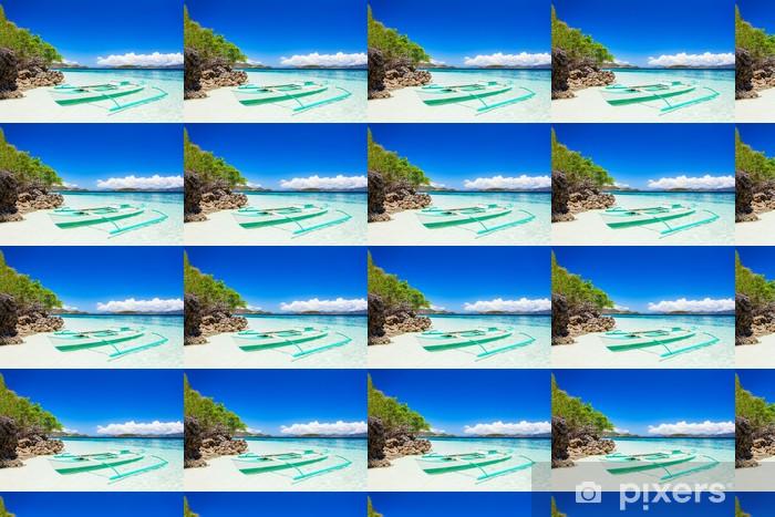Vinylová tapeta na míru Člun na pláži - Prázdniny