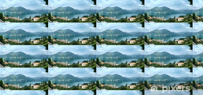 Tapeta na wymiar winylowa Jezioro Como (Włochy) Lato panorama. - Pory roku