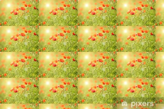 Tapeta na wymiar winylowa Kwiaty maku, na zewnątrz, - Kwiaty