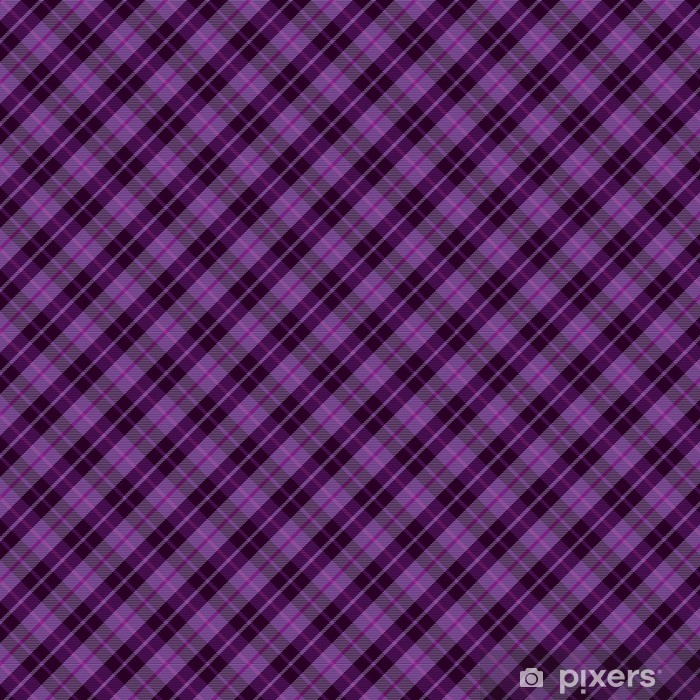 Purple plaid tartan seamless pattern background Vinyl custom-made wallpaper - Textures