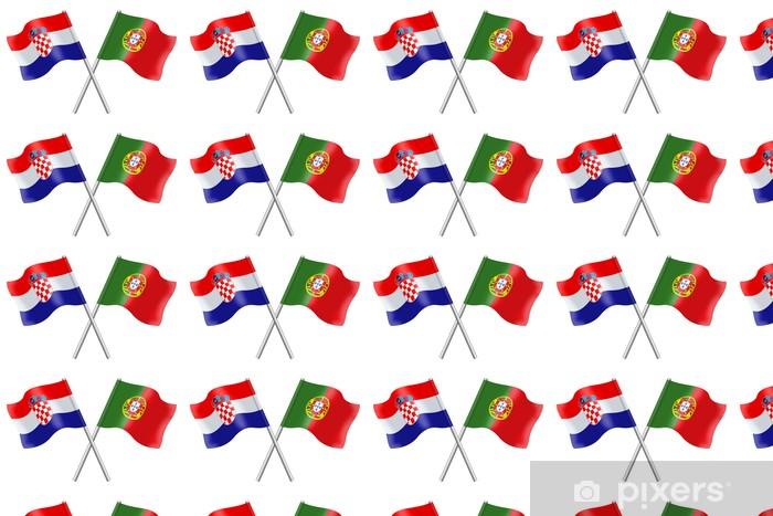 Tapeta na wymiar winylowa Flagi: Chorwacja i Portugalia - Życie