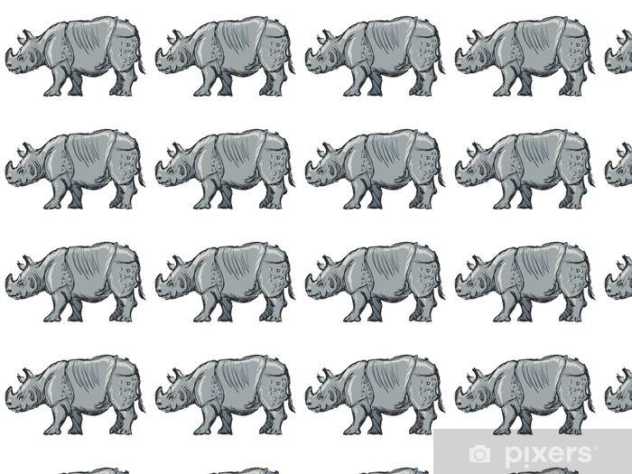 Papier peint vinyle sur mesure Rhinocéros - Mammifères