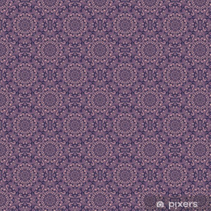 Papier peint vinyle sur mesure Oriental seamless pattern fleuri. - Fleurs