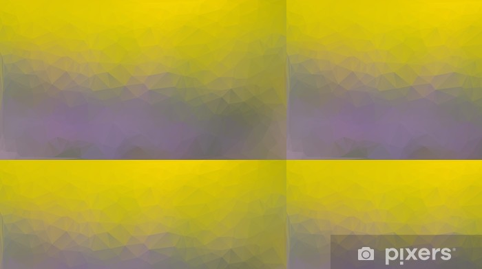 Vinyltapet Gul och lila abstrakt polygon triangel bakgrund - Bakgrunder
