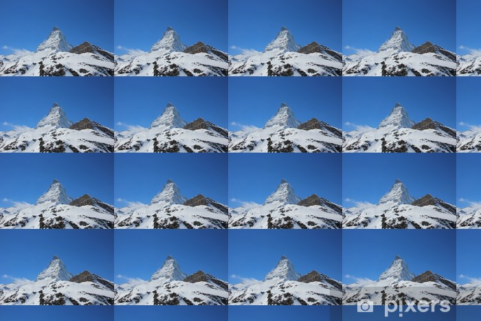 Papier peint vinyle sur mesure Belle snoSnow plafonné Cervin - Montagne