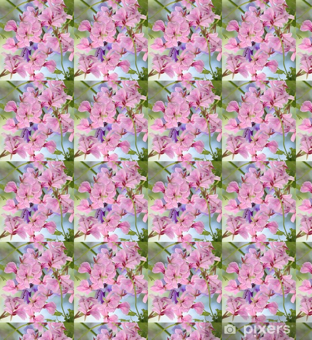 Papier peint vinyle sur mesure Décorations en fleur au fond - Fleurs