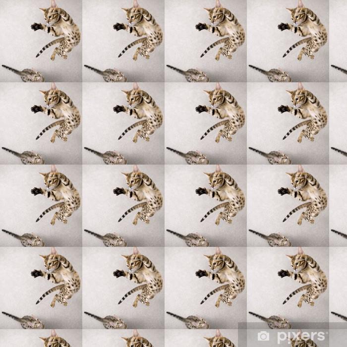 Papel pintado estándar a medida Jumping cat - Temas