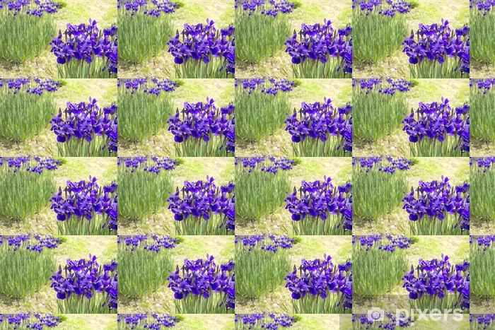 Papier peint vinyle sur mesure Fleurs d'iris pourpres - Fleurs