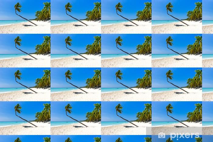 Tapeta winylowa Plaża i palmy - Woda