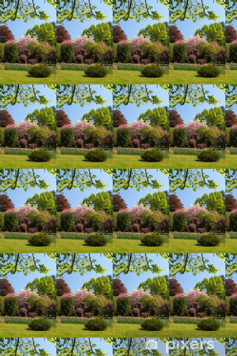 Spring landscape with colorful flowers and tree Vinyl custom-made wallpaper - Nature and Wilderness