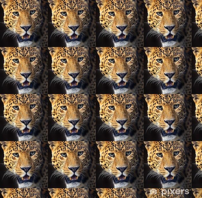 Leopard Vinyl custom-made wallpaper - Mammals