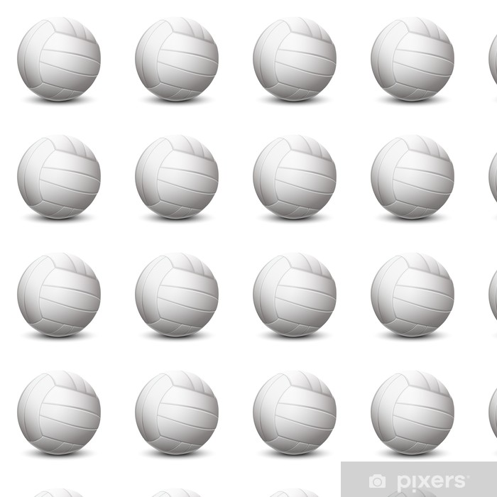 Vinylová tapeta na míru Bílá volejbal míč na bílém pozadí - Nálepka na stěny