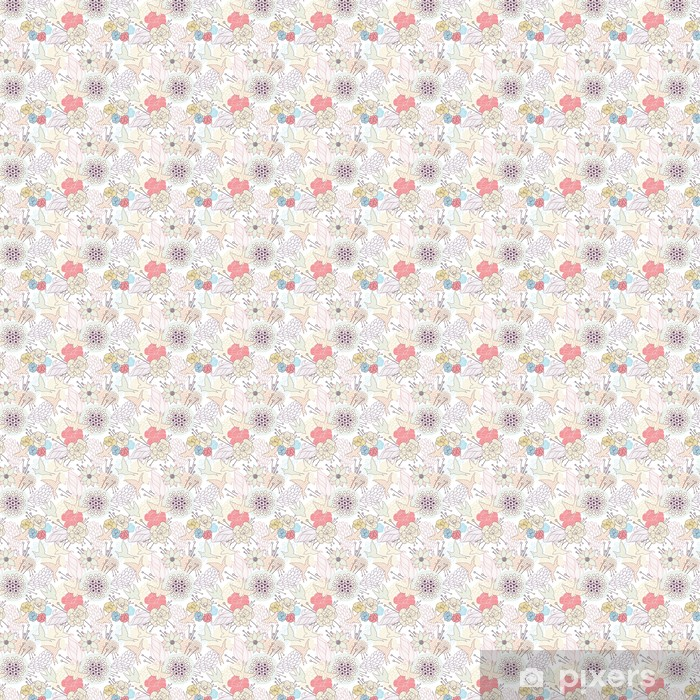 Papier peint vinyle sur mesure Transparente motif floral - Arrière plans