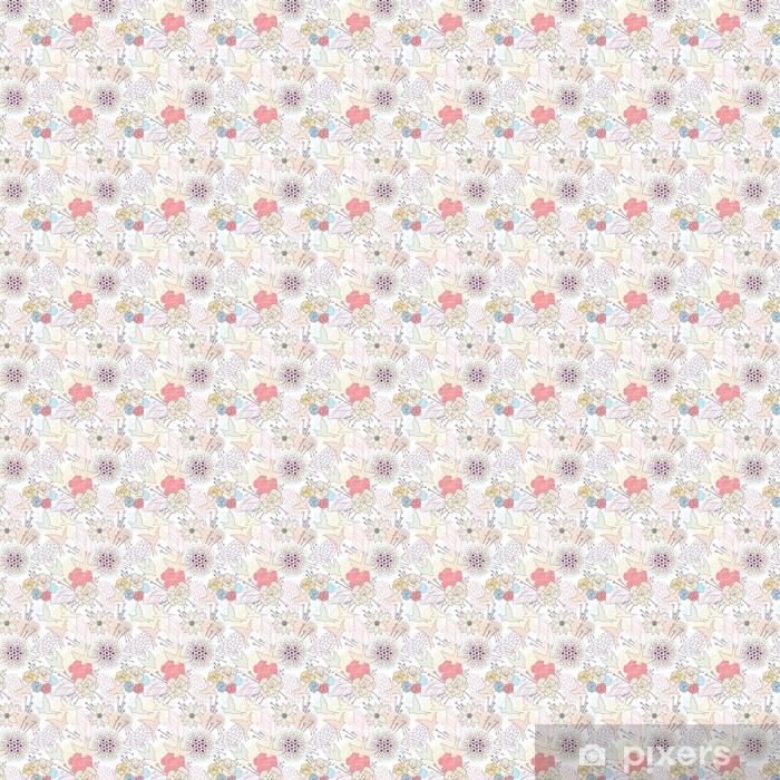 Vinyltapete nach Maß Seamless floral pattern - Hintergründe