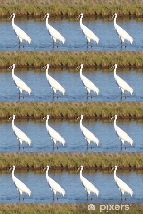 Whooping Crane with Crab Vinyl custom-made wallpaper - Birds