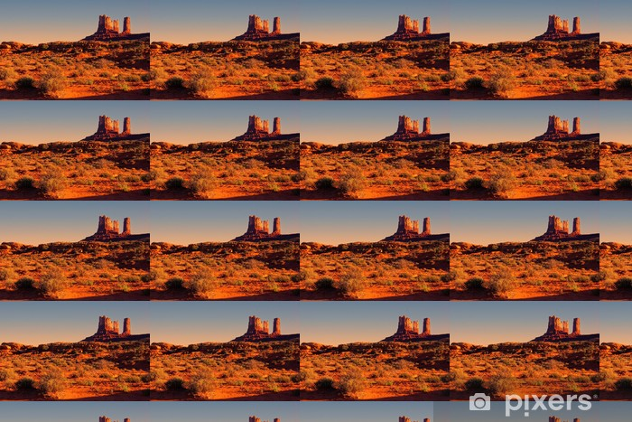 Iconic American Desert View At Sunset Near Monument Valley Usa Wallpaper Vinyl Custom Made