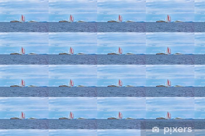 Papier peint vinyle sur mesure Yachts de loisirs de la mer Adriatique par mauvais temps - Bateaux