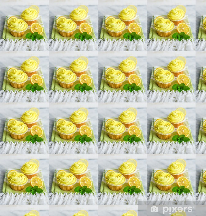 Papel pintado estándar a medida Cupcakes de limón - Dulces y postres