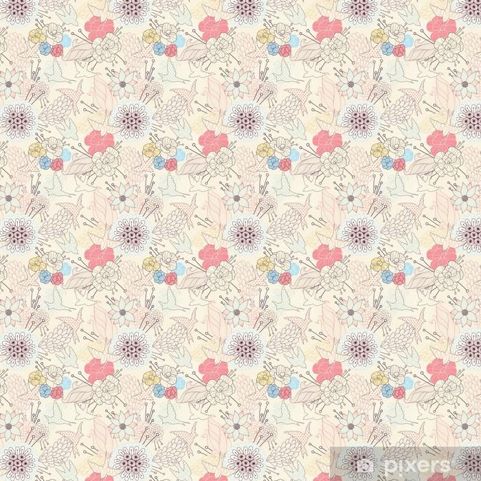 Seamless floral pattern Vinyl Custom-made Wallpaper - Destinations