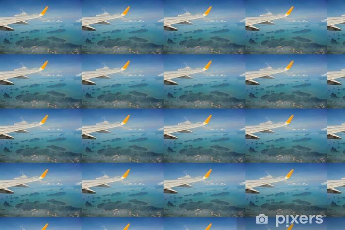 Papier peint vinyle sur mesure Vue d'avion à réaction aile - Autres Autres