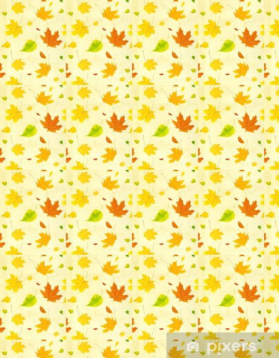 Papier peint vinyle sur mesure Grunge fond avec des feuilles d'automne volant - Arrière plans