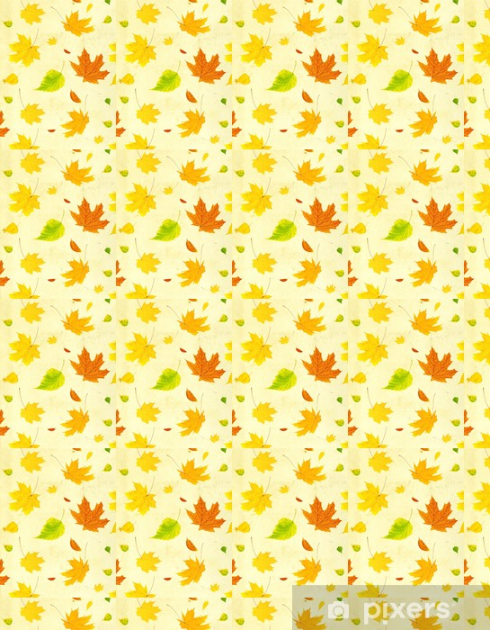 Grunge background with flying autumn leaves Vinyl Custom-made Wallpaper - Backgrounds