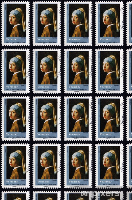 Postage stamp France 2008 Girl with a Pearl Earring, by Vermeer Vinyl Custom-made