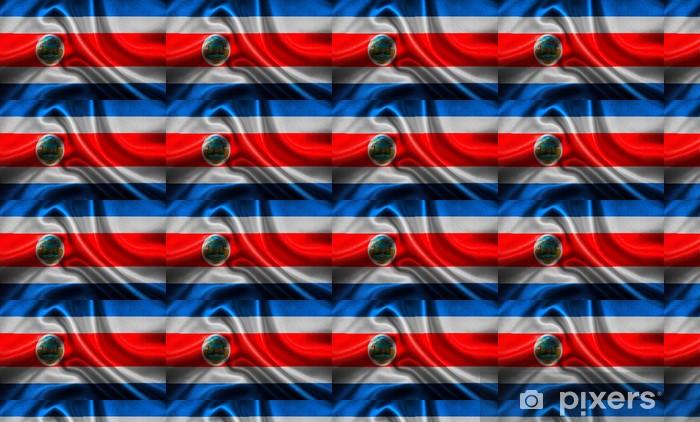Papel pintado estándar a medida Bandera de Costa Rica - Fondos