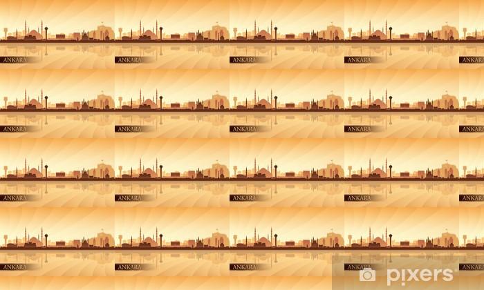 Tapeta na wymiar winylowa Ankara sylwetka panoramę miasta w tle - Bliski Wschód
