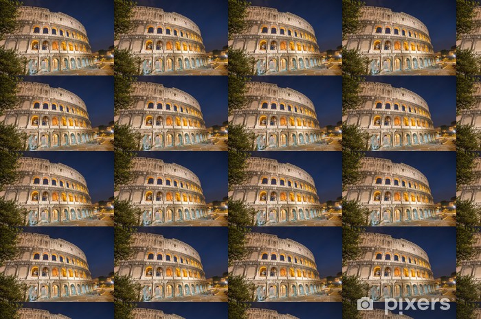 Rome, Italy. Wonderful view of Colosseum at dusk Vinyl Custom-made Wallpaper -