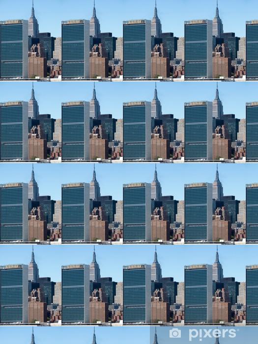 Vinyl behang, op maat gemaakt New York City midtown skyline - Amerikaanse steden
