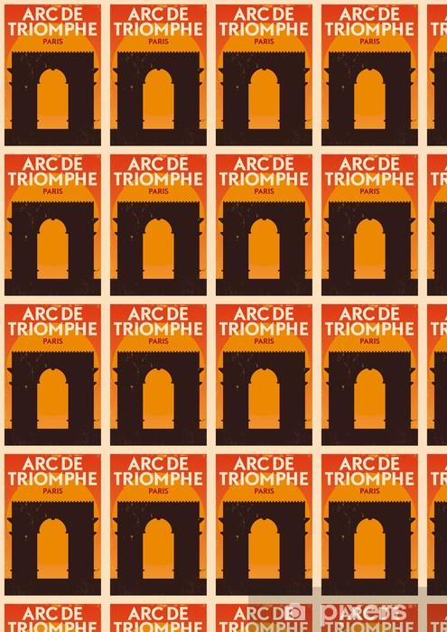 Papel pintado estándar a medida Ciudad de París tipográfico Diseño - Señales y símbolos