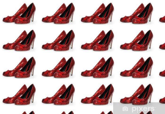 Ladies Sexy Red Sparkle High Heel Shoes Wallpaper Vinyl Custom Made