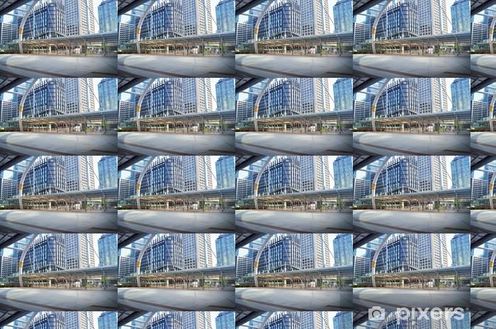 Papier peint vinyle sur mesure Bangkok renforcement des gratte-ciel, la Thaïlande - Asie